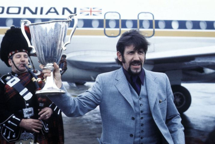 John Greig with Trophy