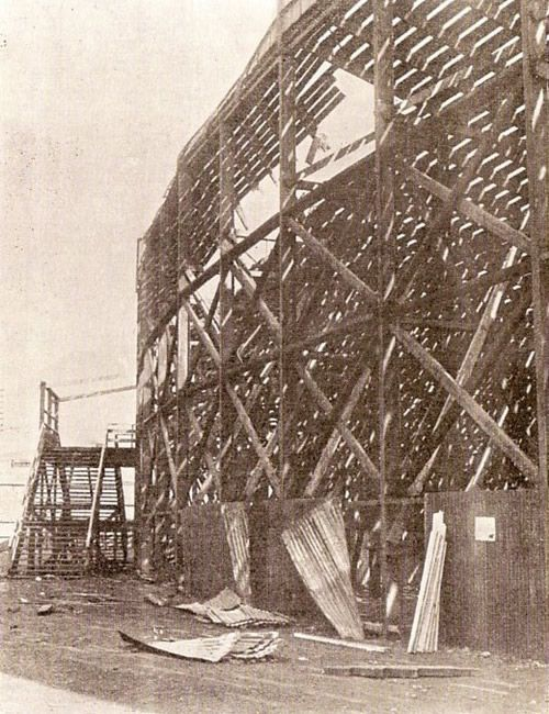 Ibrox Disaster 1902 - Corrugated Iron removed by rescuers